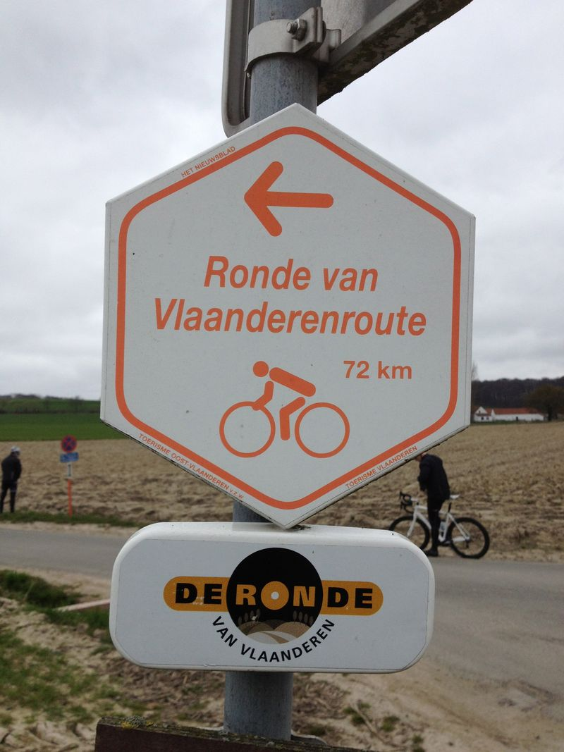 Flanders route sign