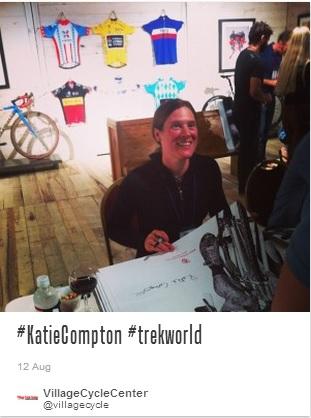 Katie signing